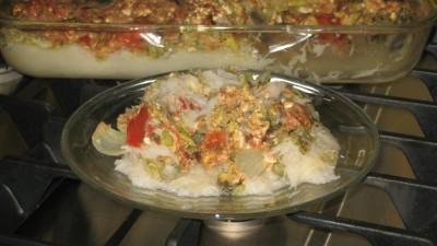 Veggie Baked Rice Noodles