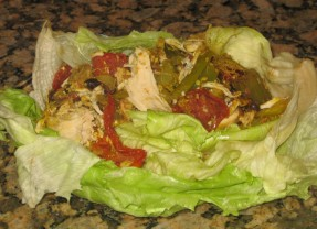 Chicken Lettuce Cups Stuffed With Alfalfa Sprouts..DELICIOUS DIET RECIPE