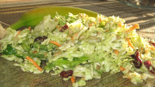 Avocado Green Pepper Sweet Coleslaw