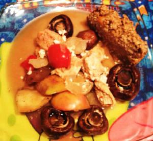 Slow Cooker Skinny Chicken Paprikash