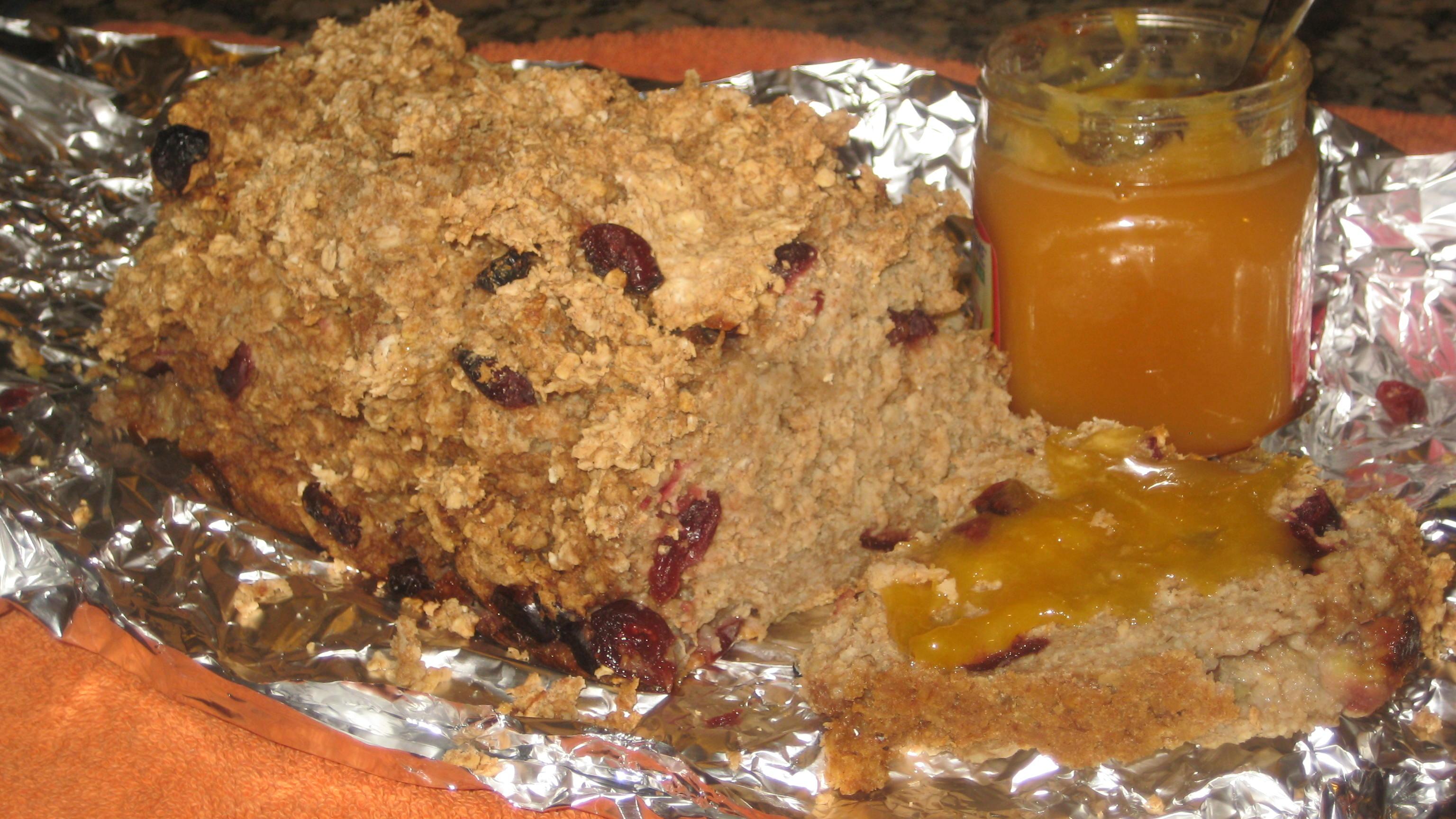 Scrumptious Gluten-Free Cranberry Oat Bread