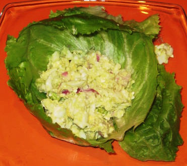 Chicken Egg Salad Lettuce Wraps, one of my favorite go-to recipes when I'm in a hurry!