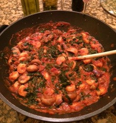 Italian Spinach Shrimp, an easy wok recipe