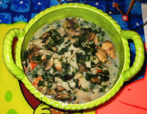 Crab Stew With Spinach, Mushrooms & Black Beans Low Fat Low Carb Soup