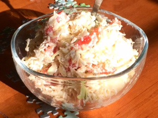 Low-Fat Nutty Coleslaw :P