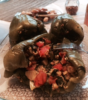 Green Peppers Stuffed With Spinach & Clams  **LOW FAT**