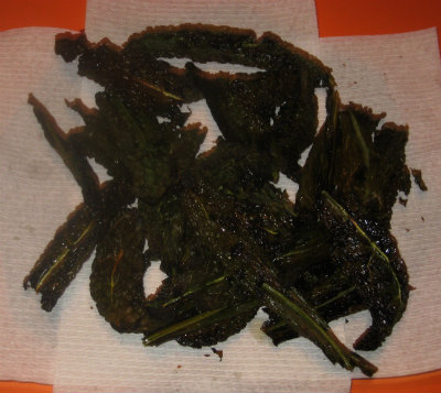 Tuscan Kale Chips, Skip The Fattening Chips :0