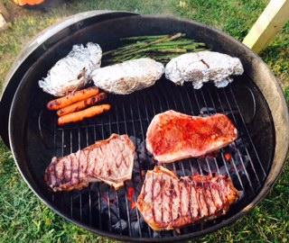 Grilled Rib Eye Steak On Your Weber Grill, YUM!!