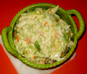 Hot Summer Day Coleslaw, Perfect Side Dish For July 4th