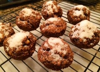 Zucchini Walnut Oat Muffins