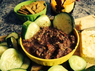 Homemade Salsa Dip With Red Chilies