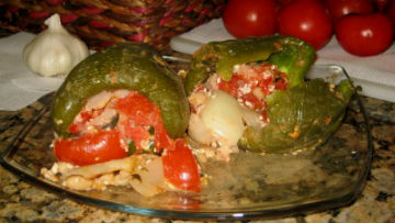 Lobster Stuffed Green Peppers