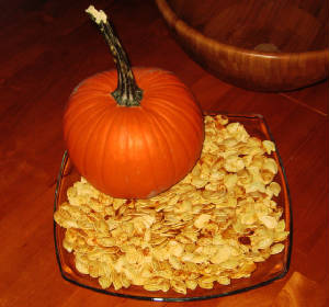Healthy Low Fat Baked Pumpkin Seeds :P