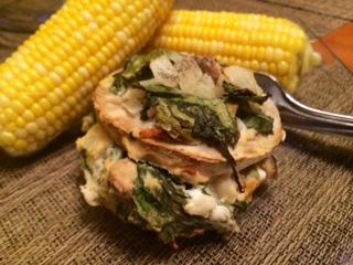 Baby Spinach & Arugula Eggplant Sandwich