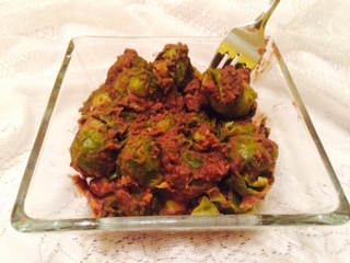 Healthy Tailgate Recipe, ReFried Bean Brussels Sprouts