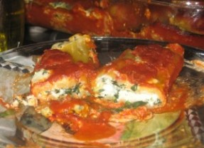 Spinach Cheese Manicotti