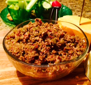 Green Bean Dip With Walnuts & Cranberries, Perfect Pairing With Wine