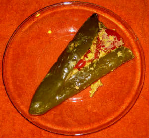 Easy Appetizer Stuffed Green Chili Peppers, A Slow Cooker Recipe