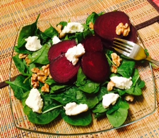 Roasted Beet Salad With Goat Cheese & Walnuts