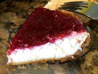 Reduced Fat Red Raspberry Cheesecake, Perfect Dessert For Easter