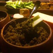 Roasted Tomatillo, Black Bean, Avocado & Onion Salsa Dip