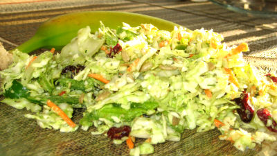 Avocado Green Pepper Sweet Coleslaw, Perfect Fare For This Weekend