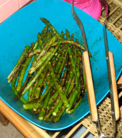 Don's Grilled Cayenne Asparagus