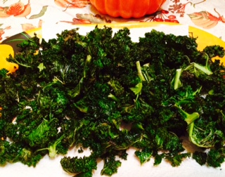 Baked Kale Chips, You Won't Miss Eating Potato Chips!