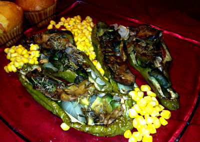Veggie Stuffed Cubanelle Peppers