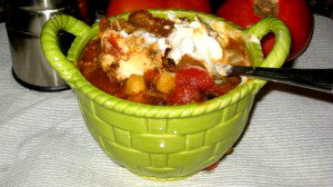 Slow Cooker Skinny Chicken Chili Soup