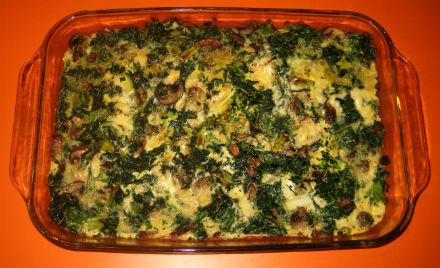 Spinach & Mushroom Casserole Recipe