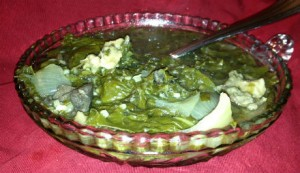 Swiss Chard & Spinach Stew