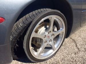 Corvette-tires-blowout